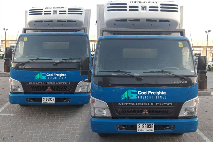 chiller truck rental dubai refrigerated transport