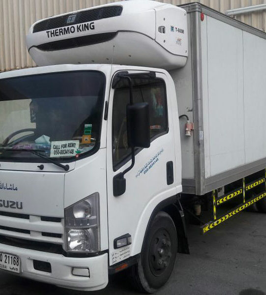refrigerated vehicles for rent dubai chiller truck