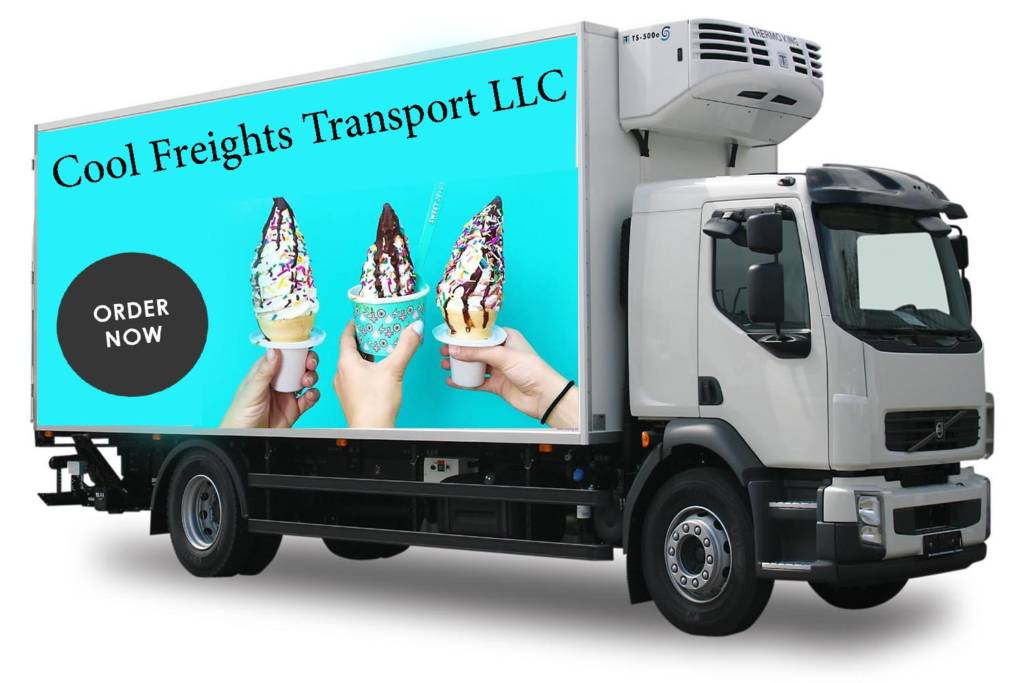 refrigerator truck icecream